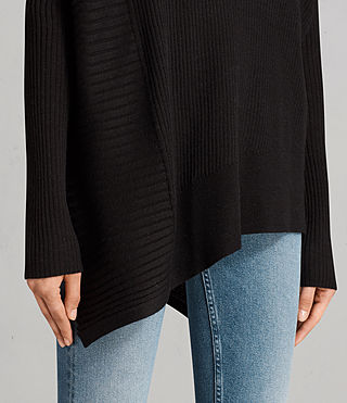 Womens Keld Olivo V Neck Sweater (Black) - Image 2