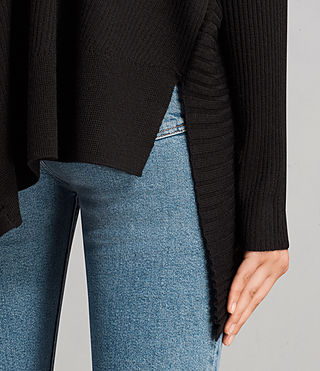 Womens Keld Olivo V Neck Sweater (Black) - Image 5
