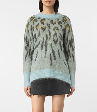 Women's Arley Animal Jumper (LIGHT BLUE MIX) -