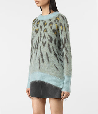 Women's Arley Animal Jumper (LIGHT BLUE MIX) - product_image_alt_text_3