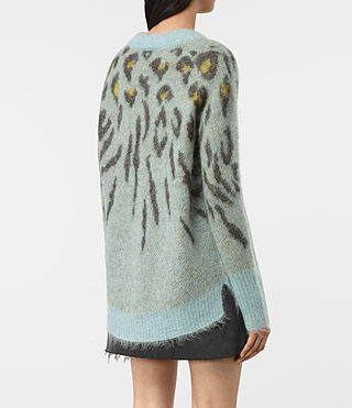 Women's Arley Animal Jumper (LIGHT BLUE MIX) - product_image_alt_text_4