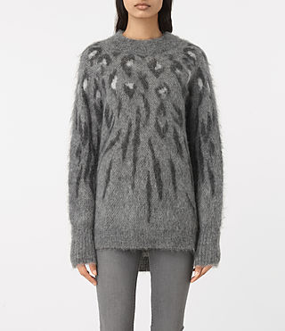 Womens Arley Animal Sweater (GREY MIX)