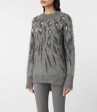 Damen Arley Animal Jumper (GREY MIX) - product_image_alt_text_3