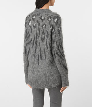 Damen Arley Animal Jumper (GREY MIX) - product_image_alt_text_4
