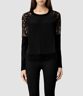 Womens Taya Sweater (Black Multi)