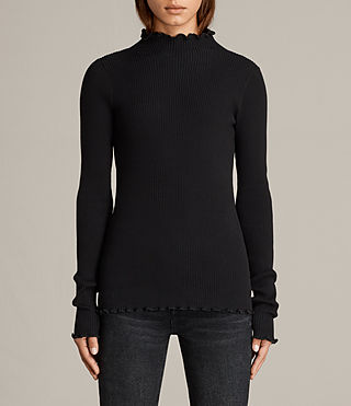 Mujer Top Eli Frill (Black) - Image 1