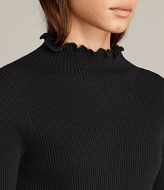 Mujer Top Eli Frill (Black) - Image 2