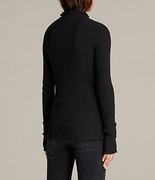 Mujer Top Eli Frill (Black) - Image 4