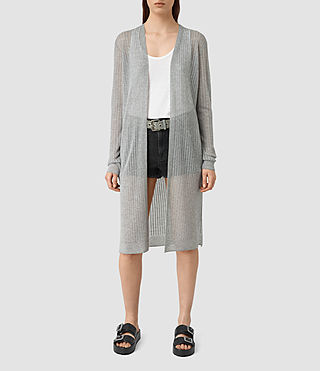 Womens Jenna Cardigan (gunmetal green)
