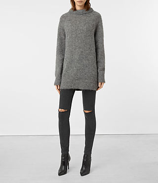 Femmes Quant Jumper (Light Grey)
