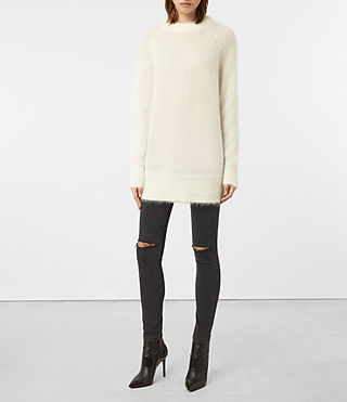 Womens Quant Sweater (CREAM WHITE) - product_image_alt_text_1