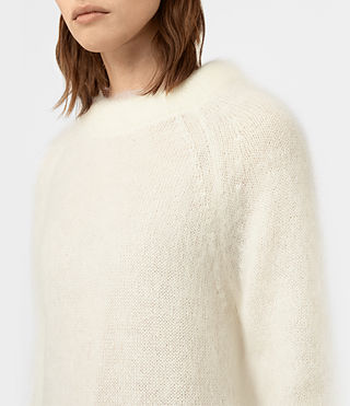 Womens Quant Sweater (CREAM WHITE) - product_image_alt_text_2