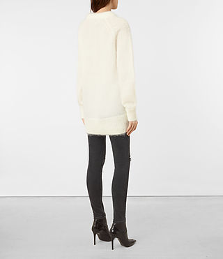 Womens Quant Sweater (CREAM WHITE) - product_image_alt_text_4
