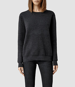 Womens Relief Sweater (Grey Marl)