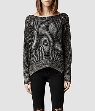 Womens Mesa Sweater (Black/ Chalk)