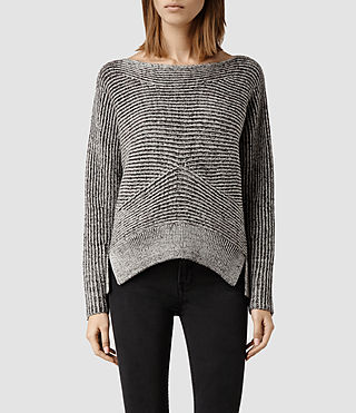 Womens Mesa Sweater (LIquorice/Chalk)