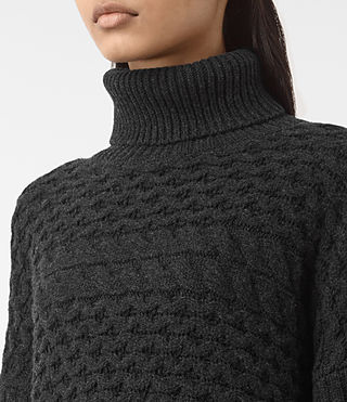 Womens Reed Funnel Neck Sweater (Cinder Black) - product_image_alt_text_2