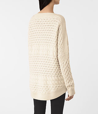 Mujer Reed Boat Neck Jumper (White) - product_image_alt_text_4