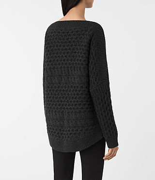 Womens Reed Boat Neck Sweater (Cinder Black) - product_image_alt_text_4
