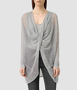 Womens Itat Lev Shrug Cardigan (Light Grey) - product_image_alt_text_1