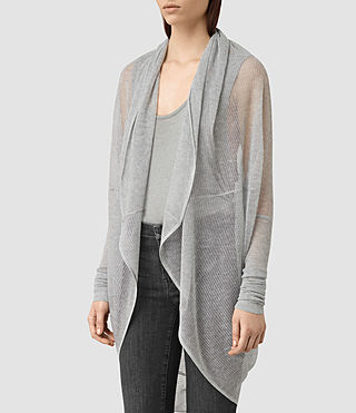 Womens Itat Lev Shrug Cardigan (Light Grey) - product_image_alt_text_2