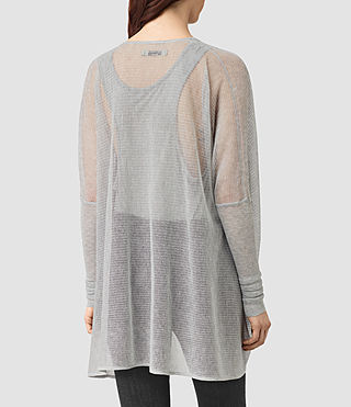 Womens Itat Lev Shrug Cardigan (Light Grey) - product_image_alt_text_3