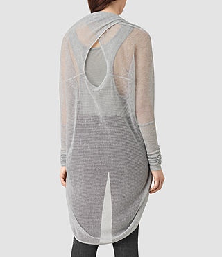 Womens Itat Lev Shrug Cardigan (Light Grey) - product_image_alt_text_4