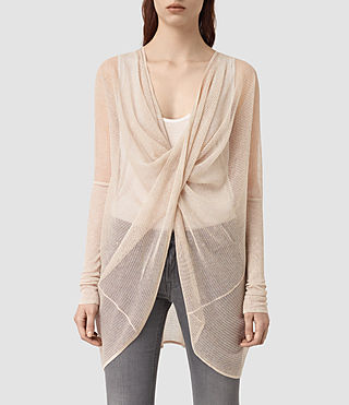 Womens Itat Lev Shrug Cardigan (Pink)