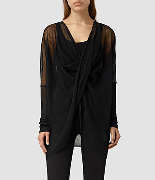 Womens Itat Lev Shrug Cardigan (Black)