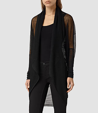 Womens Itat Lev Shrug Cardigan (Black) - product_image_alt_text_2