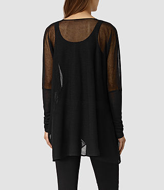 Womens Itat Lev Shrug Cardigan (Black) - product_image_alt_text_4