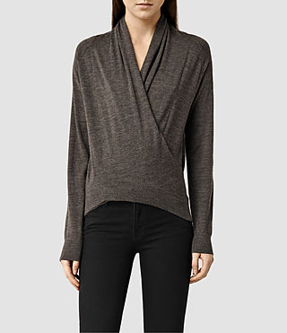 Womens Rola Twist Sweater (Slate Black)