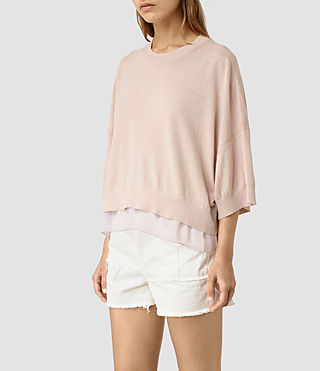 Damen Relm Knit Top (Quartz Pink)