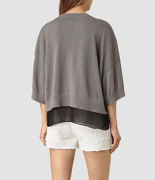 Damen Relm Knit Top (gunmetal green) - product_image_alt_text_3