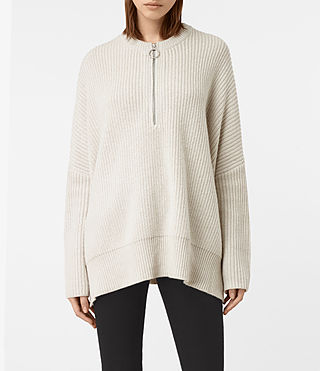 Womens Artillery Crew Neck Sweater (PORCELAIN WHITE) - product_image_alt_text_1