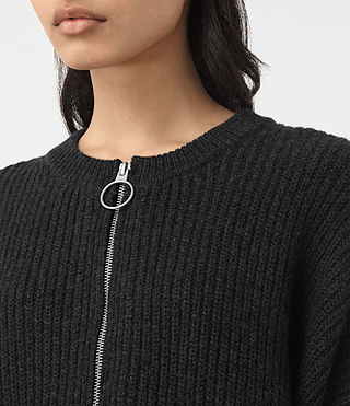 Women's Artillery Crew Neck Jumper (Cinder Black Marl) - product_image_alt_text_2