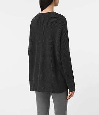 Women's Artillery Crew Neck Jumper (Cinder Black Marl) - product_image_alt_text_4