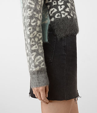 Womens Leya Crew Neck Sweater (Charcoal Grey) - product_image_alt_text_2