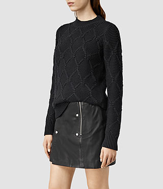Womens Plethen Sweater (Jet Black)