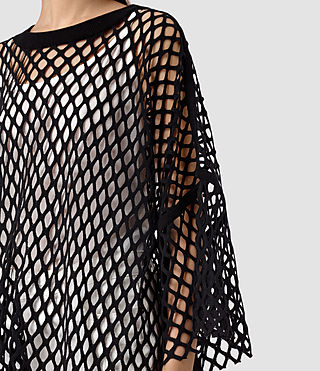 Mujer Roma Mesh Tee (Black) - product_image_alt_text_2