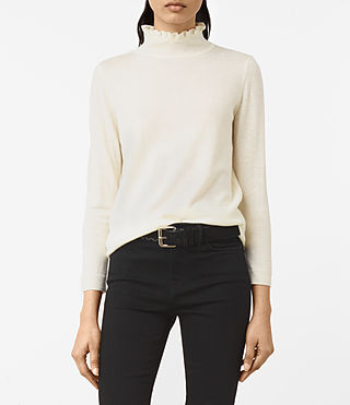 Womens Granville Sweater (CREAM WHITE) - product_image_alt_text_1