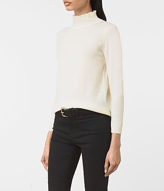 Womens Granville Sweater (CREAM WHITE) - product_image_alt_text_2
