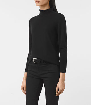 Womens Granville Sweater (Black) - product_image_alt_text_3