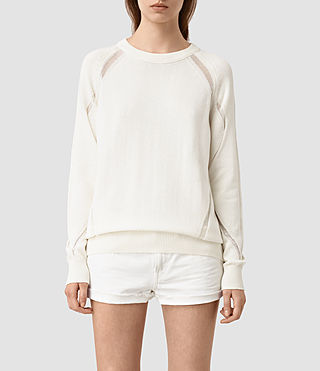 Womens Lanta Sweater (Chalk White) - product_image_alt_text_1