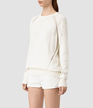 Womens Lanta Sweater (Chalk White) - product_image_alt_text_2