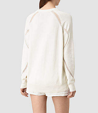 Womens Lanta Sweater (Chalk White) - product_image_alt_text_3