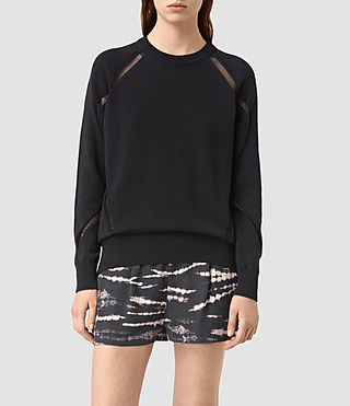 Womens Lanta Sweater (Black) - product_image_alt_text_1