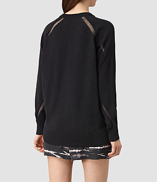 Womens Lanta Sweater (Black) - product_image_alt_text_3