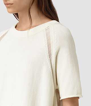 Donne Lanta Knitted Tee (Chalk White) - product_image_alt_text_2