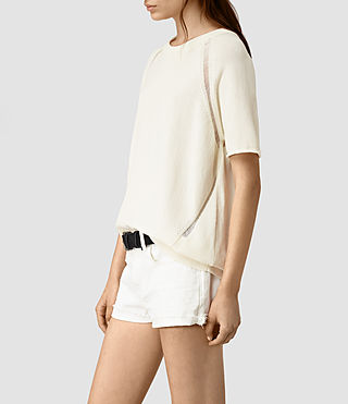 Donne Lanta Knitted Tee (Chalk White) - product_image_alt_text_3